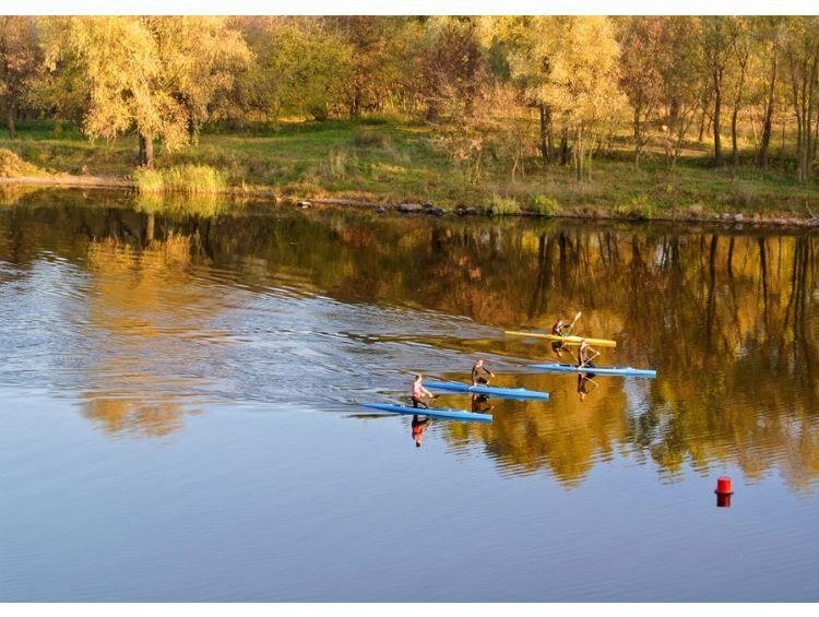 Открытка - Золотая осень на реке №1184