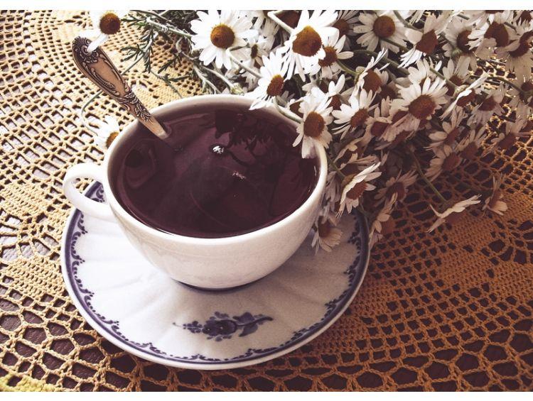 Открытка - Чай с мятой и ромашкой №1216