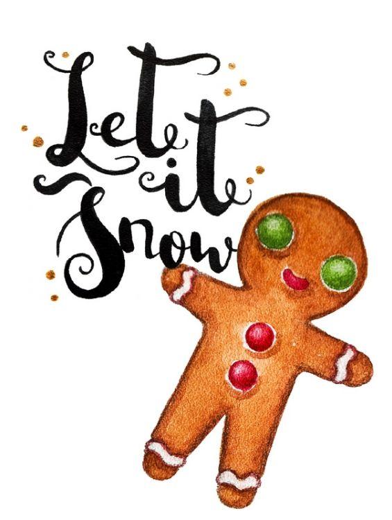 Открытка - Gingerbread Man №1226