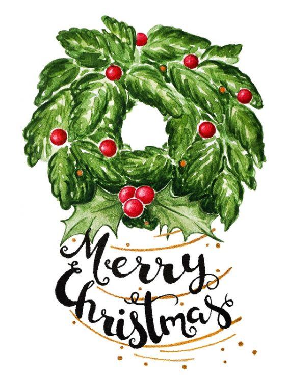 Открытка - Christmas wreath №1228