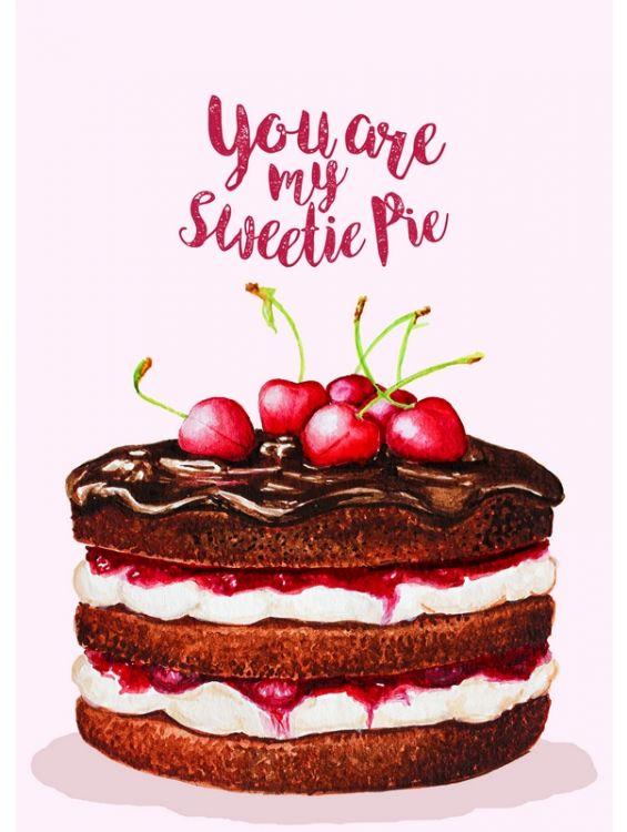 Открытка - My sweetie pie №1239