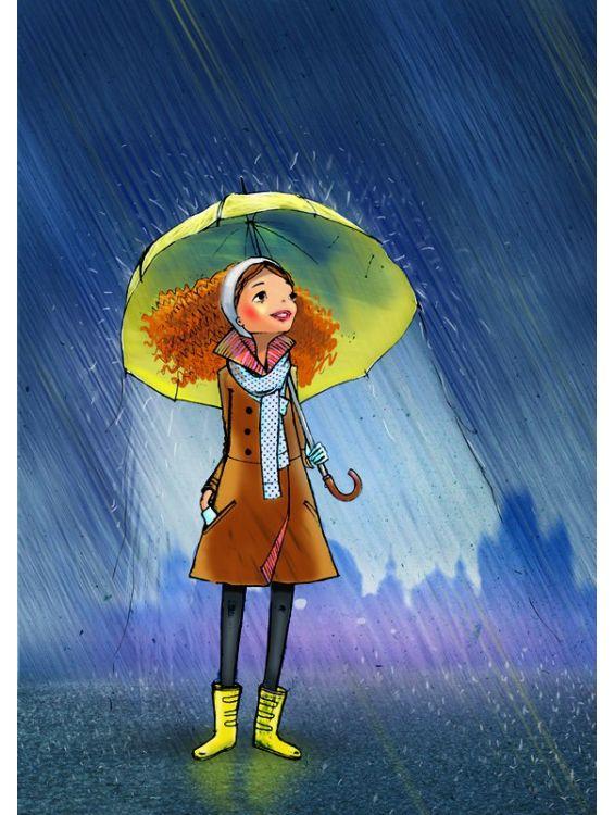 Открытка -Вечером под дождем. Алексей Лимонов №4