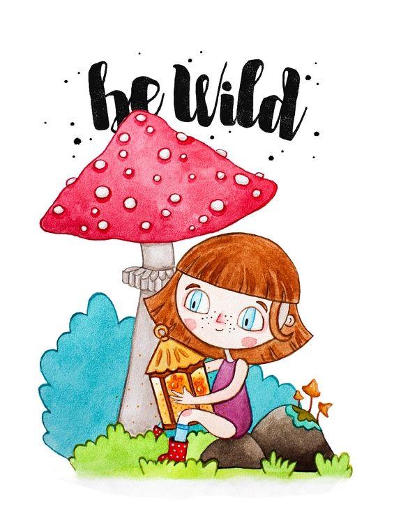 Открытка - Be wild №1357