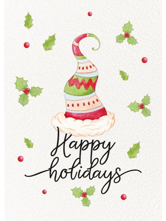Открытка  - Cчастливых праздников (Happy holidays) №1405