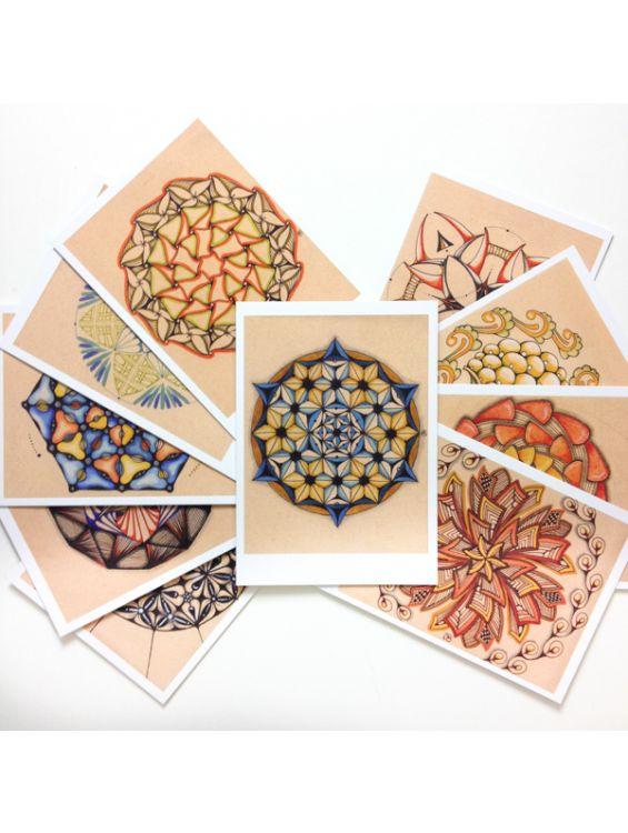 Набор открыток мандал - Geometric Passion