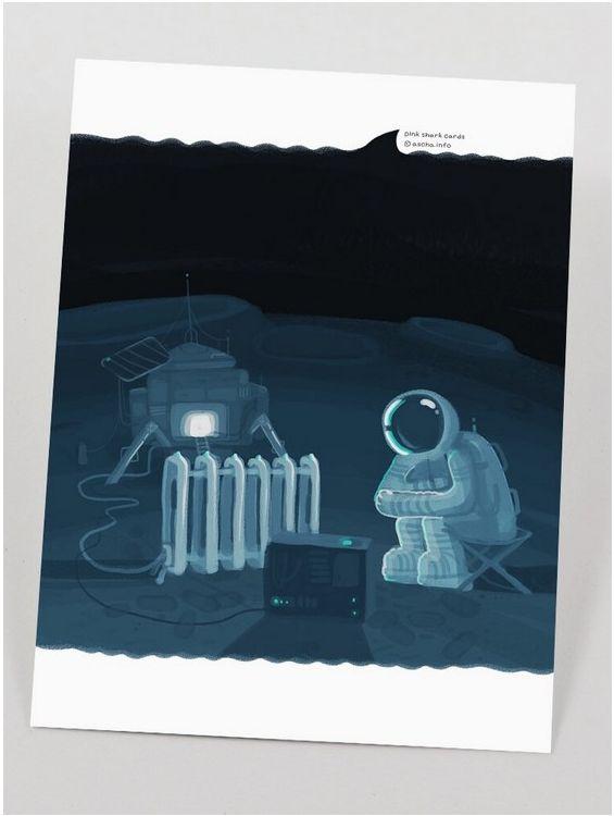 Открытка - Космос №1419