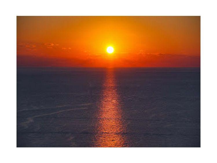 Открытка - Закат над морем №996