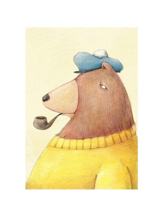 Открытка - Медведь №1036
