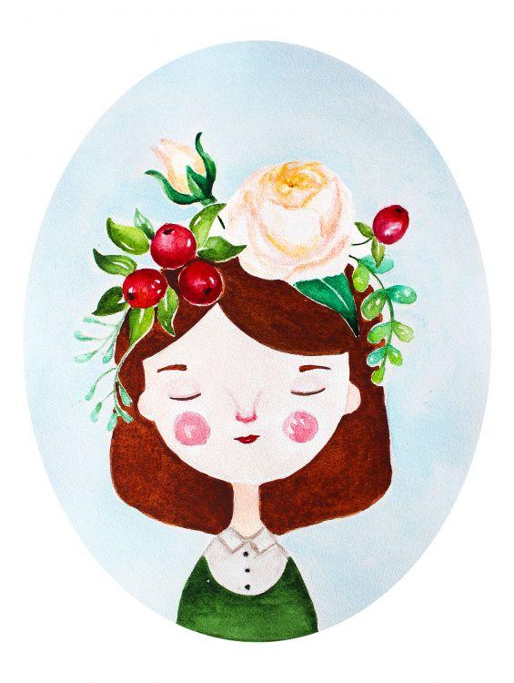 Открытка - Венок с розами №1296