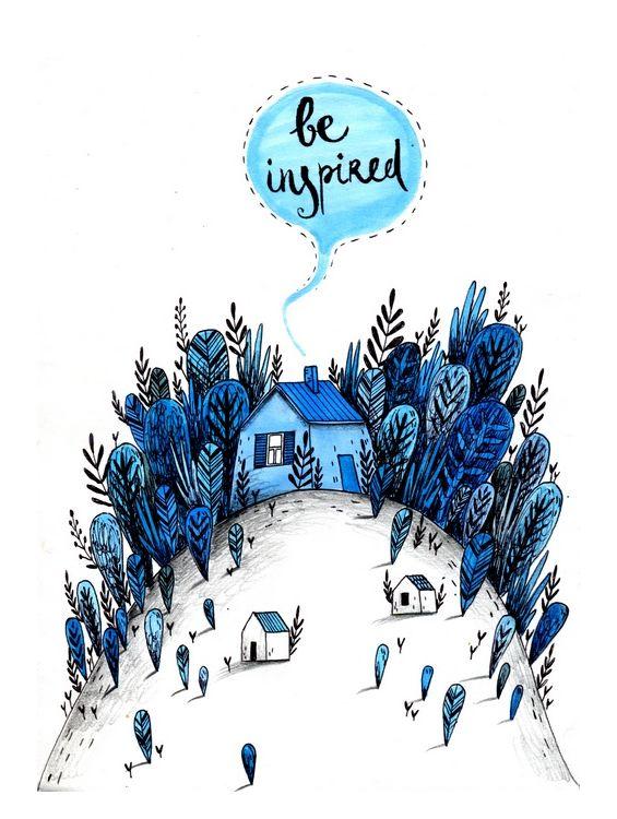 Открытка - Be inspired №1412