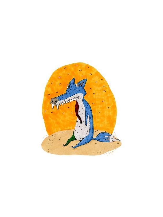 Открытки поздравительные - Синяя лиса №1469