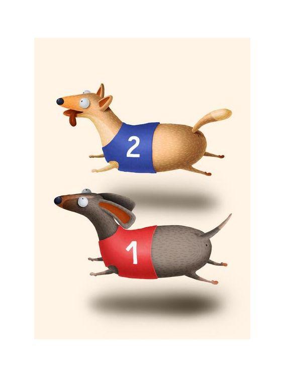 Открытка - На перегонки №1574
