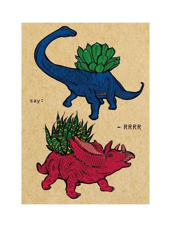 Открытка - Динозавры №1637