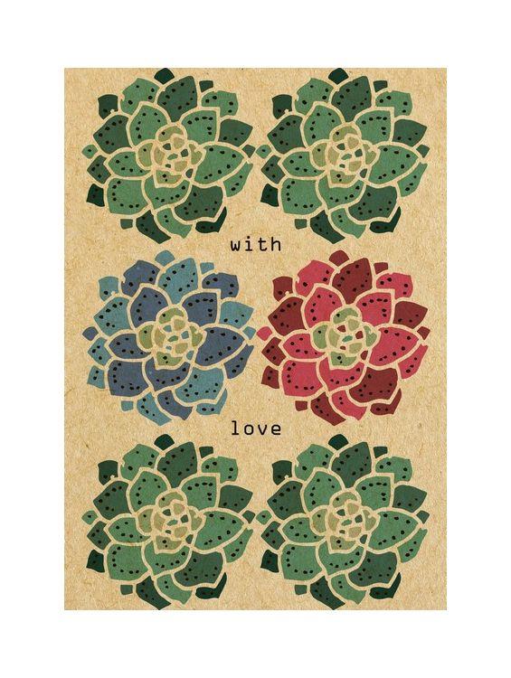 Открытка - With Love №1648