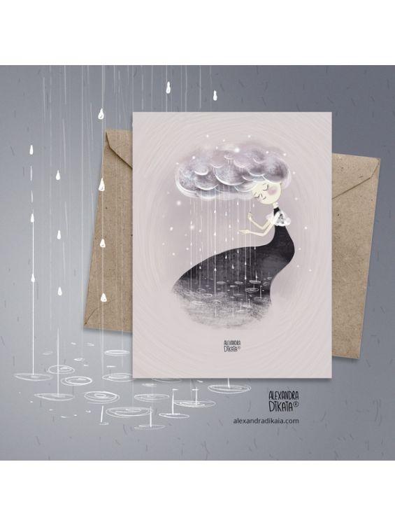Открытка - Весенний дождь №1681
