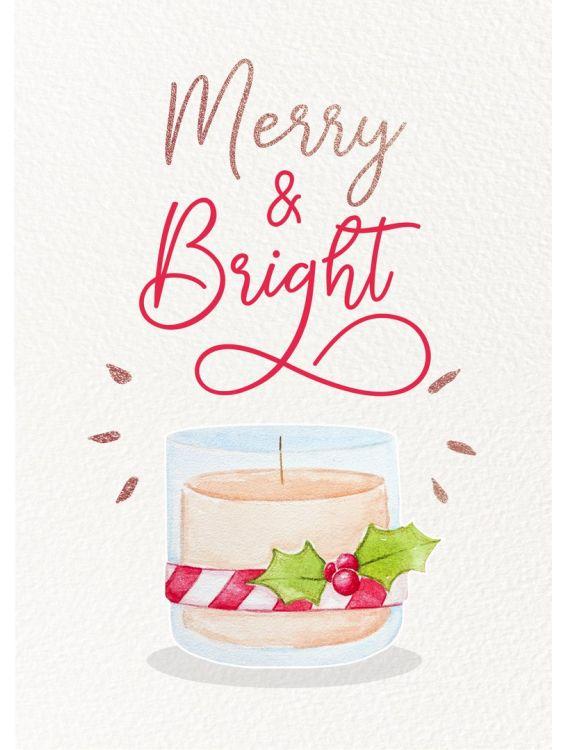 Открытка - Яркое веселье (Merry and bright) № 1407