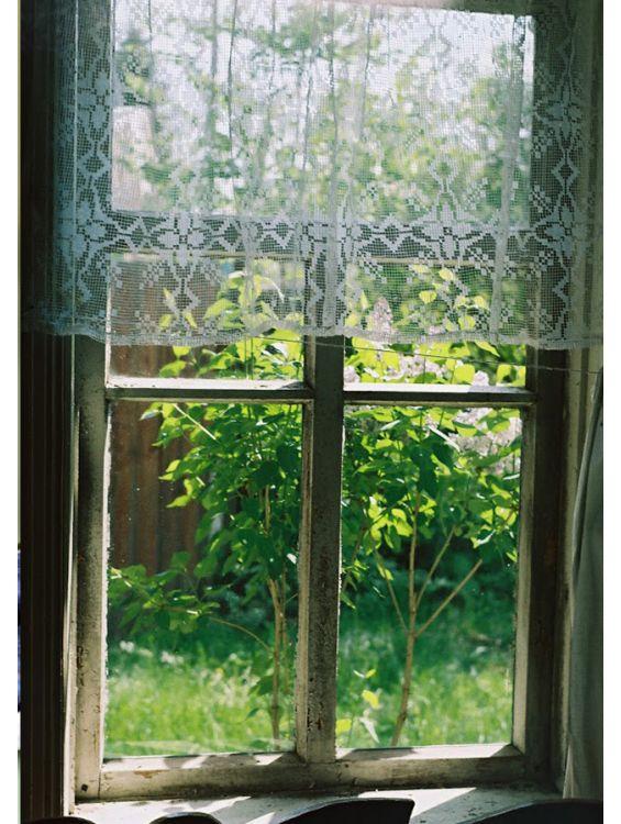 Открытка - Окно в деревне №1145