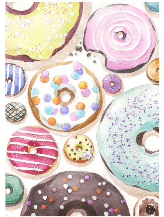 Открытка - Пончики №1164
