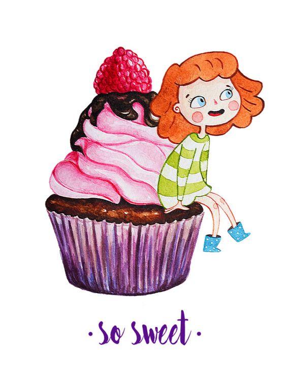 Открытка - Большой и вкусный кекс №1188