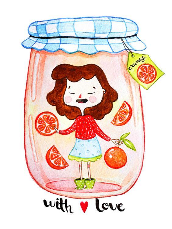 Открытка - Апельсиновое варенье №1191