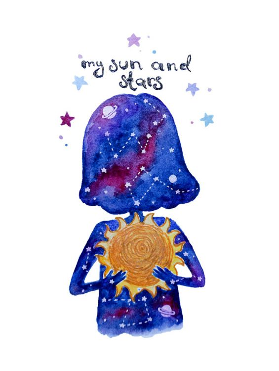 Открытка - My sun and stars №1192