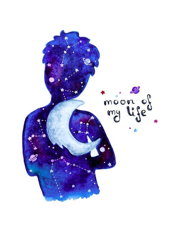 Открытка -Monn of my life №1193