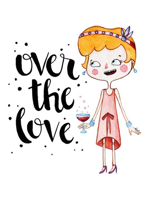 Открытка - Over the love №1198