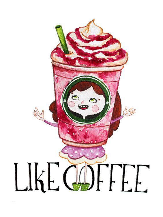 Открытка - Like coffee №1199