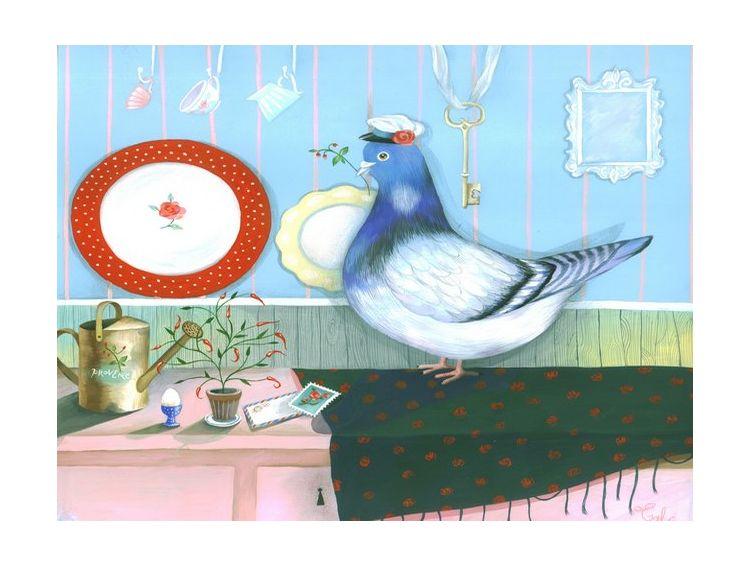 Открытка с голубем своими руками 97