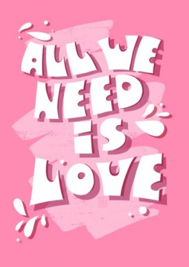 Открытка - All we need is love №2356