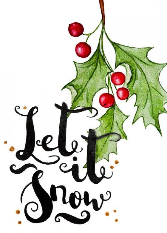 Открытка - Let it snow №1231