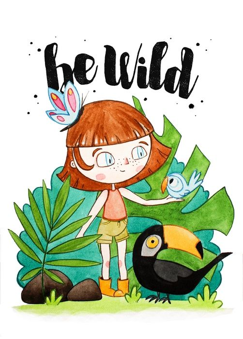 Открытка - Be wild №1355