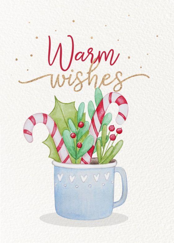 Открытка  - С Наилучшими пожеланиями  (Warm wishes) № 1404
