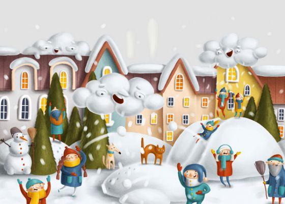 Открытка - Зимние каникулы №1710