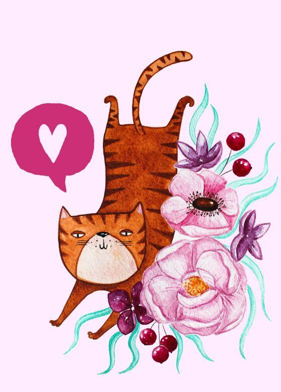 Открытка - Cat №1244