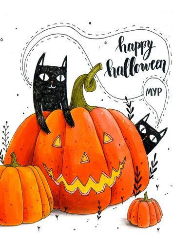 Открытка - Halloween №1409