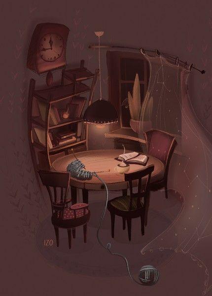 Открытка - Уютный вечер №1619