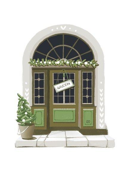 Открытка - Дверь №1624