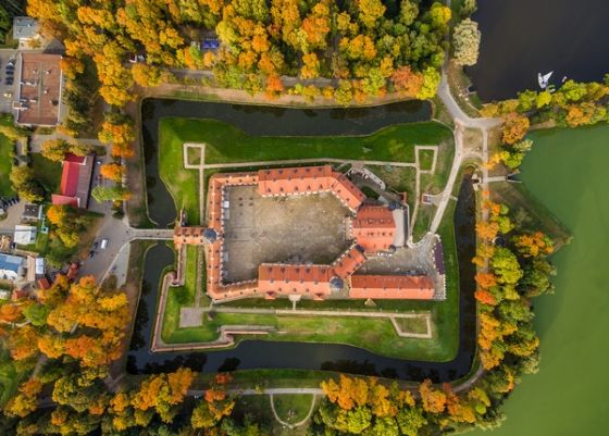 Открытка - Несвижский замок вид сверху №1734
