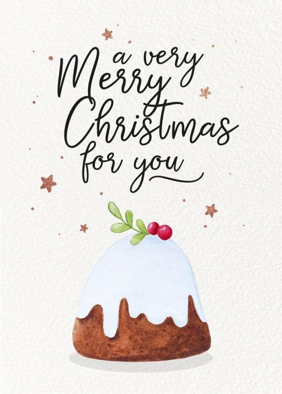 Открытка  - Весёлого рождества (Merry Christmas for you) №1406