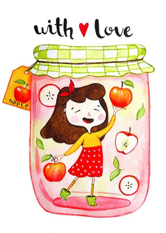 Открытка - Яблочное варенье №1190