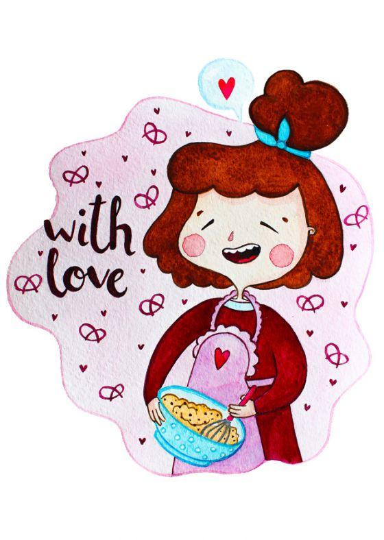 Открытка -  Wite love №1206
