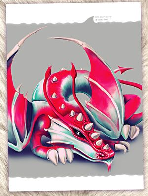 Открытка - Дракон спит №1436