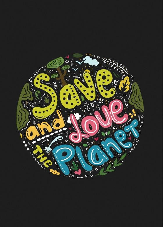 Открытка - Save and Love the Planet №2107